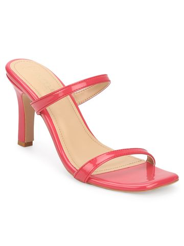 Truffle Collection | Red Patent Slim Strap High Heel Sandals