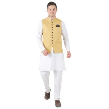 TAHVO | TAHVO men 9 button nehru jacket kurta set with hanky