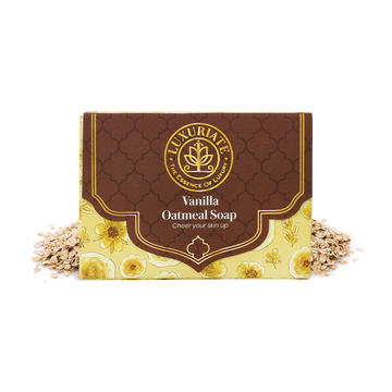 LUXURIATE | LUXURIATE Vanilla Oatmeal soap Bar for Men and Women,125 gm