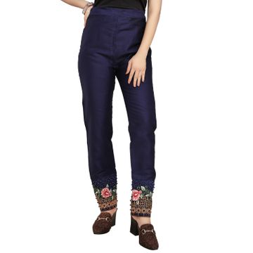 SATIMA | Slim Fit Women Pure Cotton Trousers