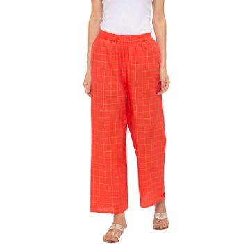 globus | Globus Peach Checked Pants