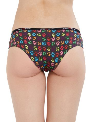 GLODT | Womens Girls Animal Paws Print Pima Cotton Hipster Panties
