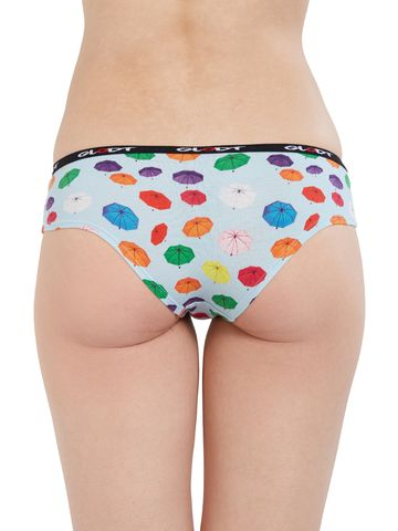 GLODT | Womens Girls Umbrella Print Pima Cotton Hipster Panties