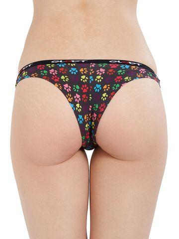 GLODT | Womens Girls Animal Paws Print Pima Cotton Bikini Panties