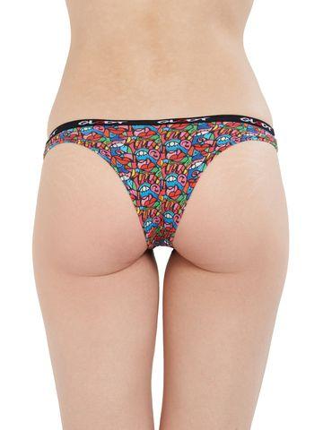 GLODT | Womens Girls Goo Goo Eyes Print Pima Cotton Bikini Panties