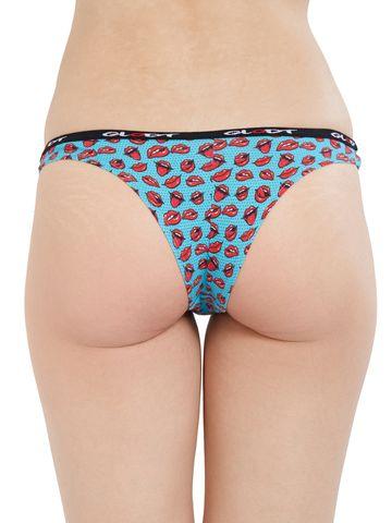 GLODT | Womens Girls Hot Lips Print Pima Cotton Bikini Panties