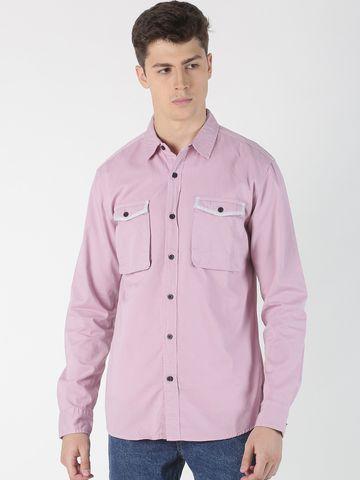 Blue Saint   Blue Saint Men's Solid Purple Shirt