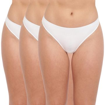 BASIICS by La Intimo | Spank Me (Naughty) Thong White (Pack of 3)