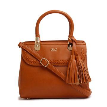 globus | Globus tan tassel fashion bag
