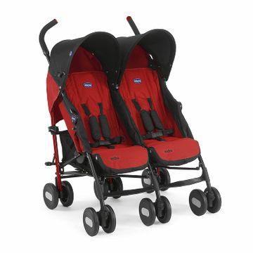 Mothercare   Chicco Echo Twin Stroller Garnet