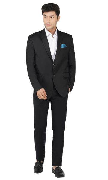 TAHVO | Black men Notched Lapel Suit
