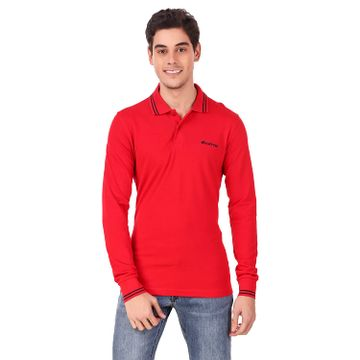 Lotto   Lotto Men's L73 Polo Ls Red Tab/Nvy T-Shrits