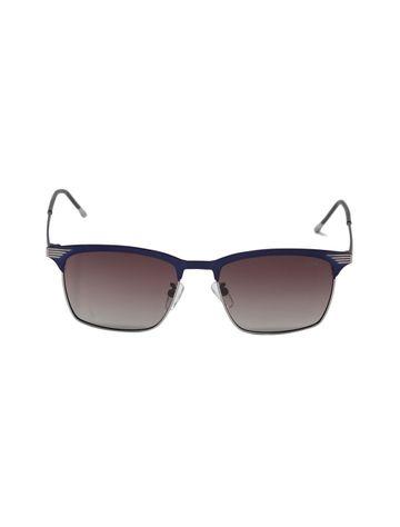 ENRICO   ENRICO Iris UV Protected & Polarized Round Shape Sunglasses for Men ( Lens - Brown   Frame - Blue)