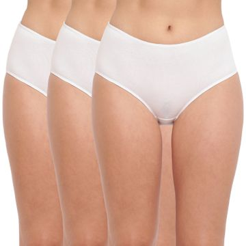 BASIICS by La Intimo | Tease 2 Please Hipster/ Full Brief White (Pack of 3)