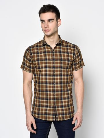 METTLE | Men TOBACCO Casual Shirts