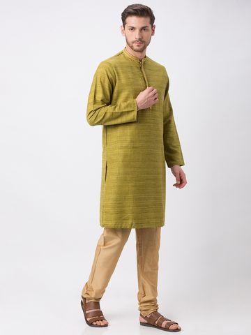 Ethnicity | Ethnicity Green Polyester Blend Kurta