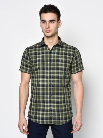 METTLE | Men GREEN Casual Shirts