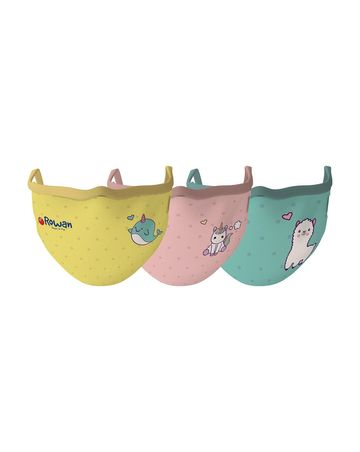 Mothercare | Unisex Mystical World Face Mask-pack of 3-Multicolor