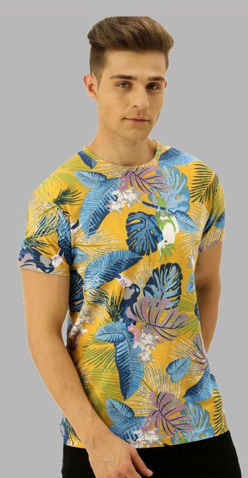 VEIRDO | Veirdo Floral Printed Men T-shirt