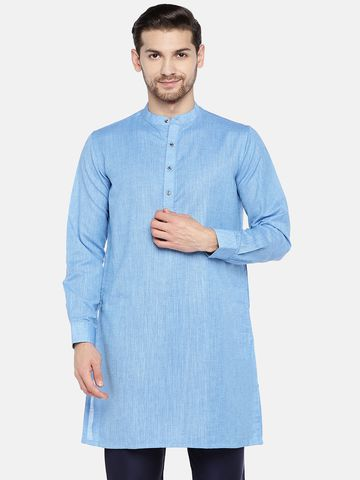Ethnicity | Blue Cotton  kurta