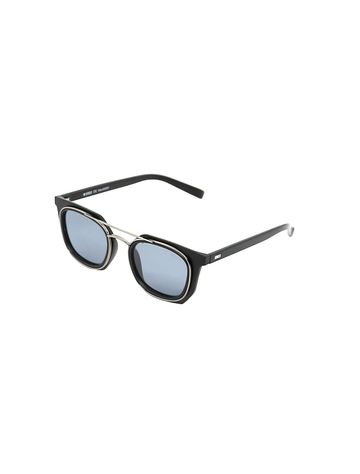 ENRICO   ENRICO Wayver UV Protected Wayfarer Unisex Sunglasses ( Lens - Grey   Frame - Black)