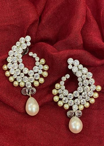 Swabhimann Jwellery | Swabhimann Jwellery Sukitra Studs with Pearl Drop
