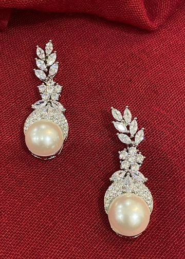 Swabhimann Jwellery | Swabhimann Jwellery Zircon Blaze with Pearl Drop