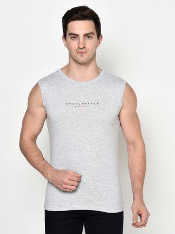 OCTAVE | Men GREY MELANGE T-Shirts