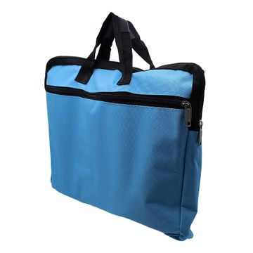iLife   iLife A3 Legal Zippered Business Document Bag for Multi-Purpose Usage Use for Files Folder Good in Meeting (Blue)
