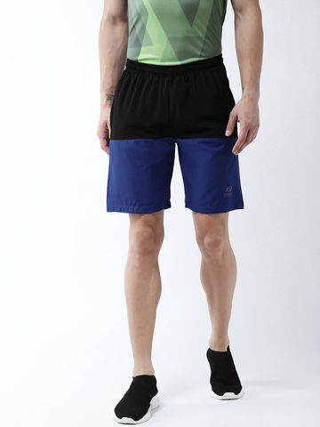 Masch Sports | Masch Sports Men's Gym Shorts Regular Fit Polyester (MSSH-0618-CS-2HLF-BLKRB_S_Multicolour_S)