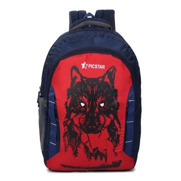 Picstar | Picstar Daredevil 35 L Navy and Red Backpack for Men and Women|Unisex Backpack|College Bag for Boys and Girls|office Backpack |School Bag|Trendy Backpack|Stylish Backpack