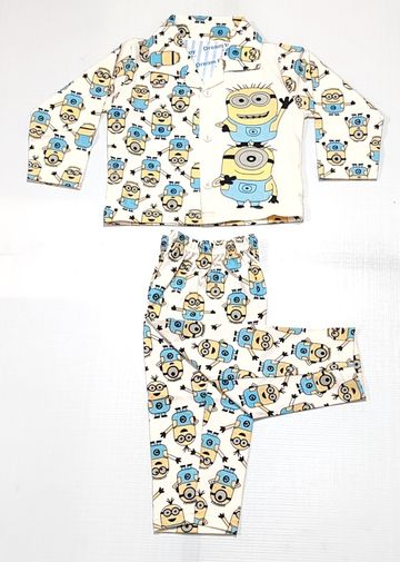 AAAKAR | Boy's Full Sleeves Pyjama Set Minions Printed