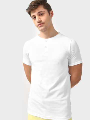 Blue Saint | Blue Saint Men's White Skinny Fit T-shirts
