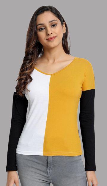 Juneberry | Juneberry Colorblock T-shirt For Women