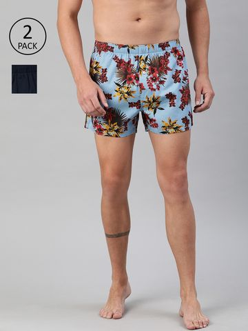 The Bear House   Men's Printed Woven Boxers