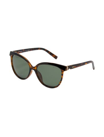 ENRICO | ENRICO Brownie UV Protected Cateye Sunglasses for Women ( Lens - Green | Frame - Yellow)