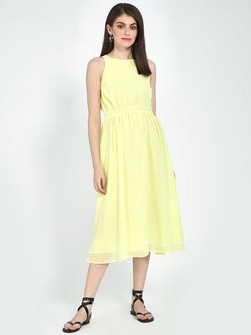 Blue Saint   Blue Saint Women's Yellow Regular Fit Dresses