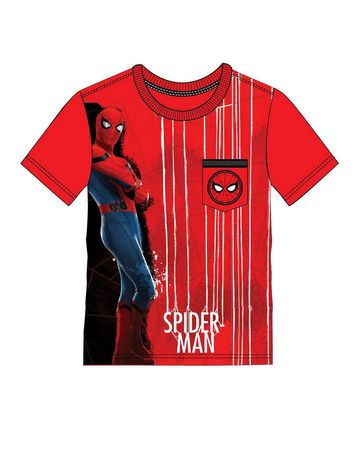 Mothercare | Kidsville Boys Half sleeves Round neck tee Spiderman-Red