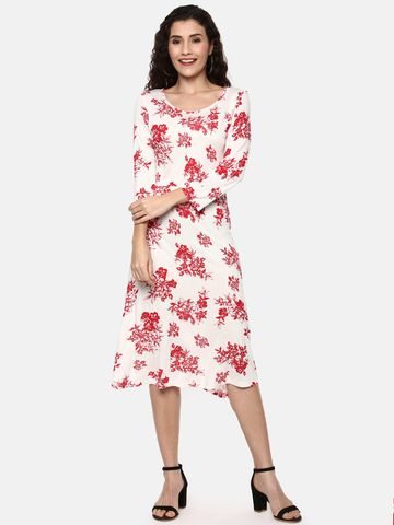 Y CAN F   YCANF Women's Casual Off White Dress