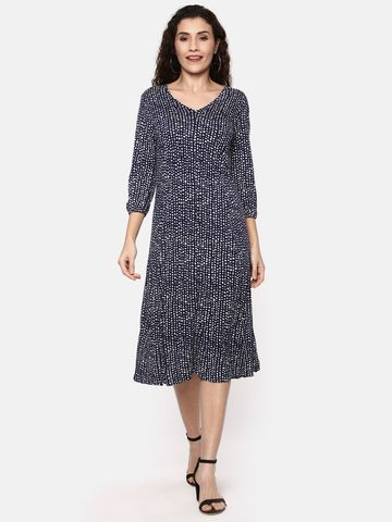 Y CAN F | YCANF Women's Casual Navy Dress