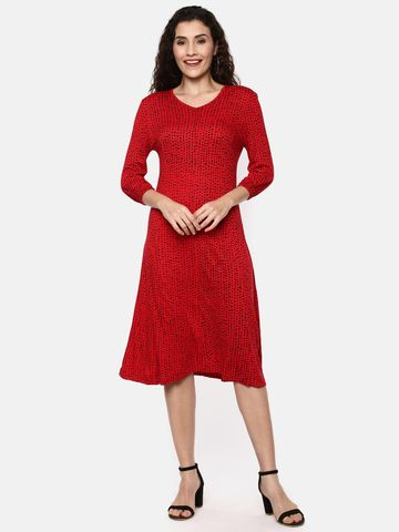Y CAN F | YCANF Women's Casual Red Dress