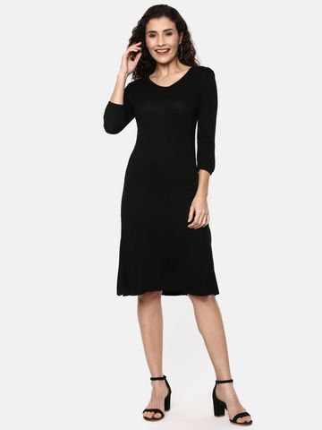 Y CAN F | YCANF Women's Casual Black Dress