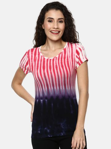 Y CAN F | YCANF Women's Casual Navy/Pink Tops