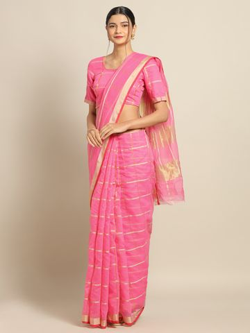 SATIMA | Satima PinkCotton SilkWeaving Saree