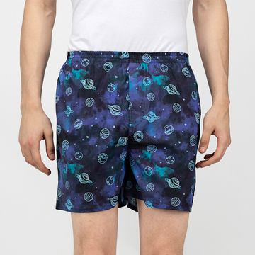 Whats Down | Blue Galaxy Boxers