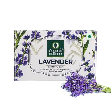 Organic Harvest | Organic Harvest Lavender Bathing Bar, 110gm