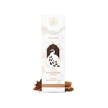 LUXURIATE | LUXURIATE Sandalwood Ayurvedic,Organic,Natural and Non-Toxic Incense Sticks-Great for Yoga, Meditation, Prayer, Home Fragrance, and as Air Purifie,(Contains 20 Incense Sticks/Natural Agarbatti)