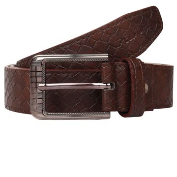 CREATURE | CREATURE Faux Leather Brown Designer Formal Belt for Men