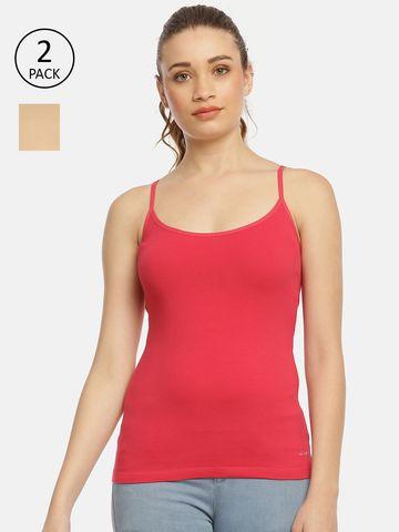 Zelen | Zelen Women's Nude/magenta Camisole Pack of 2