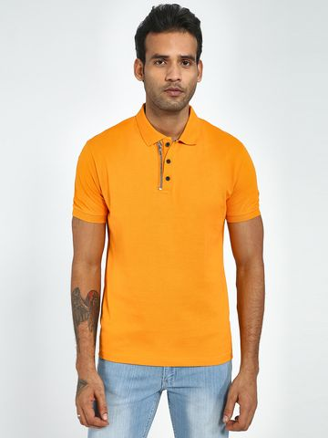 Blue Saint | Blue Saint Men's Orange Regular Fit T-Shirts